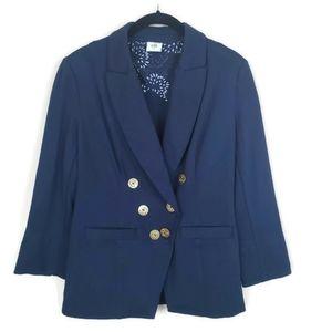 Cabi Navy Blue Grand Slam Nautical Blazer - Size 4